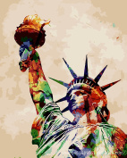 CX-124/Statue of Liberty Famous Scenery Wall Art Oil Painting Home Decoration DIY Digital Oil Paintings By Numbers Indoor Artwork For Bedroom And Living Room