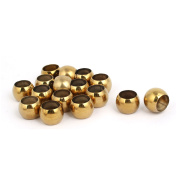 28mmx18.5mm 201 Stainless Steel Hollow Ball Gold Tone 16pcs for Handrail Stair