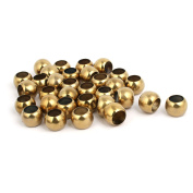 32mmx18.5mm 201 Stainless Steel Hollow Ball Gold Tone 32pcs for Handrail Stair