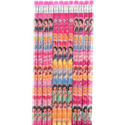 Disney Princess Authentic Licenced 12 Wood Pencils Pack