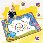 Water Aqua Drawing Magic Doodle Mat, Water Doodle mat, Colour Children Board & Magic Pens Kids Educational Toys Boys Girls Gift