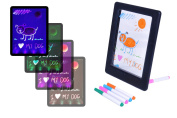 Colour Splurge LED Drawing Board For Children - Erasable Ink - Changes The Colour of Your Illuminated Writing & Artistic Drawings - Perfect for Kids with FREE Cartoon Stencil