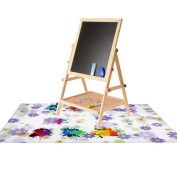 Warrior Us Artist Kids Painting Drop Cloth Washable with Flower Pattern for Art Easel