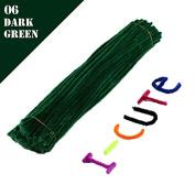 WXLAA 100pcs DIY Chenille Stems Pipe Twist Rods Cleaners Kids DIT Craft Toys Dark Green