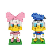 Gooband® Donald Duck / Daisy Duck - Pack of 2 LOZ Nanoblock Collection Total 420pcs