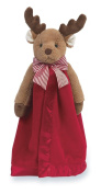 Bearington Baby Lil' Reindeer Snuggler, Christmas Plush Security Blanket, Lovey 38cm