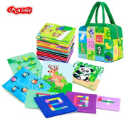 My First Soft Numbers and Animal Cards,LALABABY 26pcs Nontoxic Fabric Baby Cloth Books Early Education Toys Activity Cloth Card for Toddler, Infants and Baby Toy Perfect for Baby Shower gift
