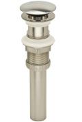 PF WaterWorks PF0717-BN DecoDrain Plastic Push PopUp Drain, Brushed Nickel Plated