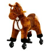 Kinbor Kids Girls Boys Walking Pony Ride on Horse Rocking Toy Neigh Sound w/Wheels