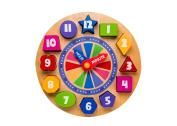 Wooden Shape Sorting Clock For Children | Wood Educational Clock Puzzle With Numbers & Shapes | Teach Your Kid To Tell Time Through Fun & Play . Old & Up