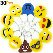 O'Hill Emoji Keychains Emoticons Key Ring for Birthday Emoji Party Favour Supplies