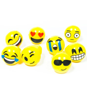 Fun Central AY949 Light up Jelly Emoji Rings - Assorted