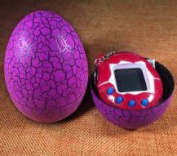 Homiees LCD Virtual Digital Pet Egg Toy, Handheld Electronic Game Machine Toy With Keychain 1pc