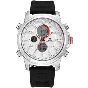 WEIDE Analogue Digital Watch-Men's Fashion Military Multiple Function, Alarm, Chronoscope, Calendar, Quartz, Rubber Strap band