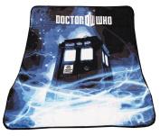 Doctor Who Throw Blanket - TARDIS Gallifrey Fleece - 130cm x 150cm Afghan