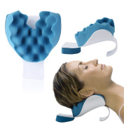 Neck and Shoulder Relaxer Device Neck Pain Relief and Support Shoulder Relaxer Massage Traction Pillow