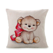 Allywit Cute Animal Sofa Bed Home Decoration Festival Pillow Case Cushion Cover