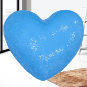 Mermaid Throw Pillows,Two-colour Reversible Sequins Mermaid Heart-Shaped Pillow Cover with Insert 33cm ×38cm