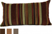 Brentwood Originals 2073 Carnival Stripe Toss Pillow, 36cm by 60cm , Copper