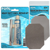 Flocked Grey Vinyl Repair Patch Glue Kit for Intex Airbeds and Inflatables