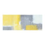 "KESS InHouse CarolLynn Tice ""Steady"" Yellow Grey Bed Runner, 90cm x 220cm"