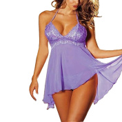 Lace Sleepwear and G-string,ZYooh Sexy Lingerie Babydoll Nighties Plus Size for Women
