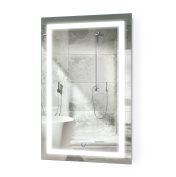 LED Bathroom Mirror 50cm X 80cm | Lighted Vanity Mirror Includes Dimmer and Defogger | Wall Mount Vertical or Horizontal Installation |
