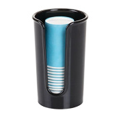 mDesign Disposable Paper Cup Dispenser for Bathroom Countertops – Black
