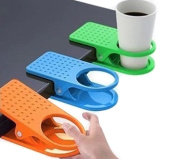 4 Pack Coloured Drinking Cup Holder Clips Clamp for Home Office Desk Table Cup Rack