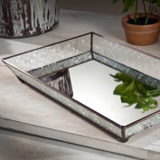 J Devlin Tra 106-1 Vintage Glass Jewellery Tray with Mirrored Bottom Vanity Organiser