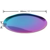 METAN Luxury Round Stainless Vanity Trays 28cm Bathroom, Dresser, Kitchen, Jewellery Desk Organiser Tray Serving Tray