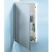 Jensen 867P36WH Corner Medicine Cabinet with Bevelled Mirror, 41cm by 90cm