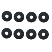 BASTENS black round body washers 8-piece for 1/10 scale RC car & truck such as Traxxas 1815 Losi HPI Axial Wraith SCX10