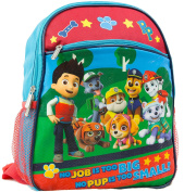 Nickelodeon Paw Patrol 30cm Toddler Backpack With 8 Paw Patrol Characters Pictured On Front