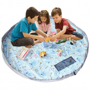 MMKSTO Children's Play Mat and Toys Storage Bag - 150cm Cute Kids Playbag for Holding Legos. Great for Storing Small and Medium Size Toys
