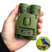 SUPRBIRD Kids Binoculars Compact for Bird Watching, 8x21 Mini Folding Pocket Adults Children Binoculars for Educational Learning, Travelling, Concert, Natural Exploration, Best Gift for Boys and Girls