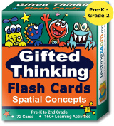 Gifted Thinking Flash Cards – Spatial Concepts for Pre-K - 2nd Grade Non-Verbal Tests – Kindergarten Educational Toy Practise for NNAT test, CogAT test, OLSAT test, NYC Gifted and Talented, WPPSI