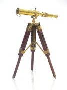 Solid Brass Telescope With Tripod Stand By Nauticalmart