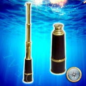 Solid Brass Leather Wrapped Triple Fold Taper Telecope 90cm