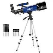 Emarth Telescope, Travel Scope, 70mm Astronomical Refracter Telescope with Tripod & Finder Scope, Portable Telescope for Kids Beginners