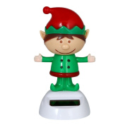 KaiCran Solar Powered Dancing Christmas Swinging Animated Bobble Dancer Toy Car Decor