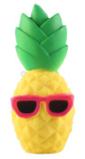 Anboor 16cm Squishies Slow Rising Kawaii Scented Soft Squishies Pineapple Toy For Kids or Stress Relief Cool Sunglasses