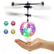 RC Flying Ball, Fansidi Newest Helicopter Ball - Infrared Induction Flying Toys with Colourful LED Shinning Lights - RC Toys for Kids, Teens, Best Gifts Choices for Girls and Boys Toys