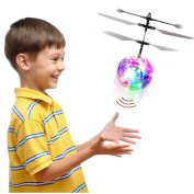 RC Flying Ball, RC Helicopter Toy, RC Infrared Induction Drone Ball – Safe, Easy & Rechargeable – Dazzling LED Lights – With Motion & Object Sensor, and Remote Control – Kids Toy For Boys & Girls