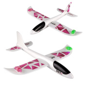 Toy aeroplane model, COOL99 Foam Throwing Glider Inertia Led Night Aircraft Toy Hand Launch Aeroplane Model