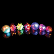 Jelly LED Ring Light Up Toys - 36 Pc Flashing LED Jelly Finger Rings Glow in the Dark Party Favours for Kids and Adults for New Years Eve
