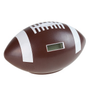 Football Coin Counting and Saving Piggy Bank with Digital Counter for Kids, Boys and Girls by Hey! Play!
