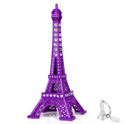 SiCoHome Eiffel Tower Decor,18cm ,Purple Eiffel Tower with Blings