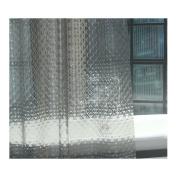 RH Art Waterproof EVA Shower Curtain Liner with Hooks - 180cm x 180cm , Smokey-grey Diamond Plaid