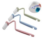 Mziart 20cm V Type Plastic Curved Toilet Brush Cleaning Toilet Corner Rim